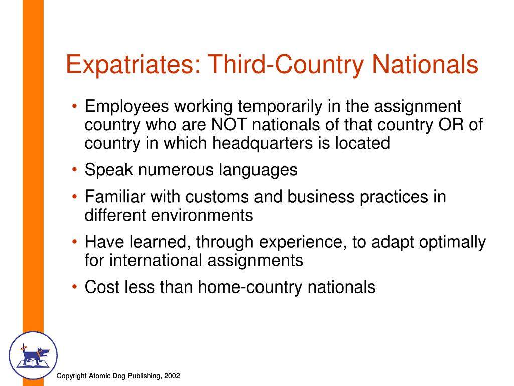 Expatriates: Third-Country Nationals