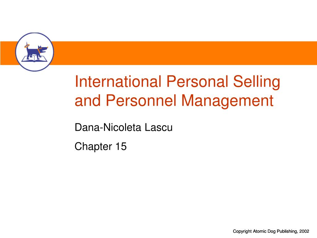 international personal selling and personnel management