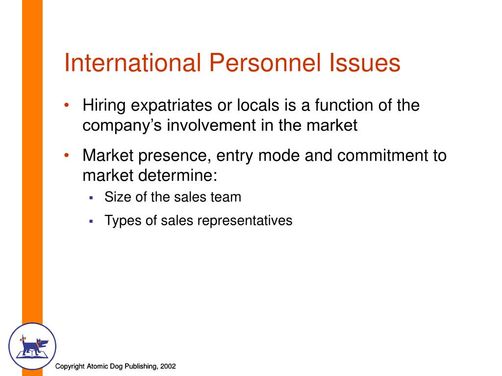 International Personnel Issues