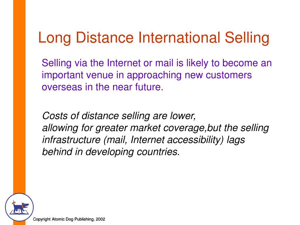 Long Distance International Selling