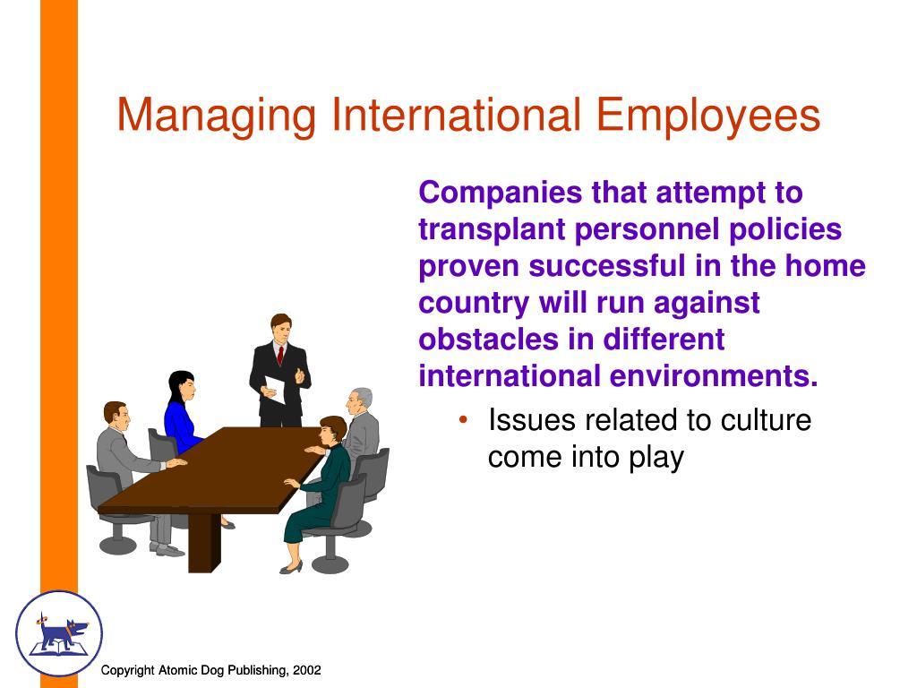 Managing International Employees