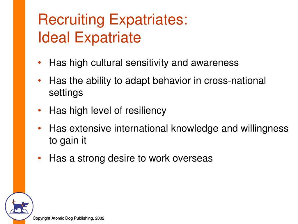 Recruiting Expatriates: