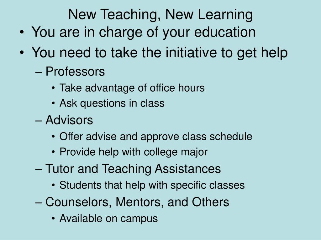 New Teaching, New Learning