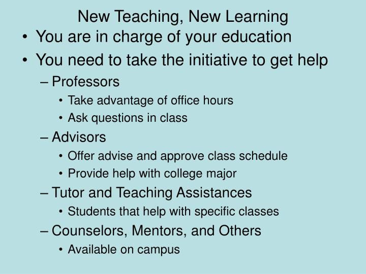 New teaching new learning