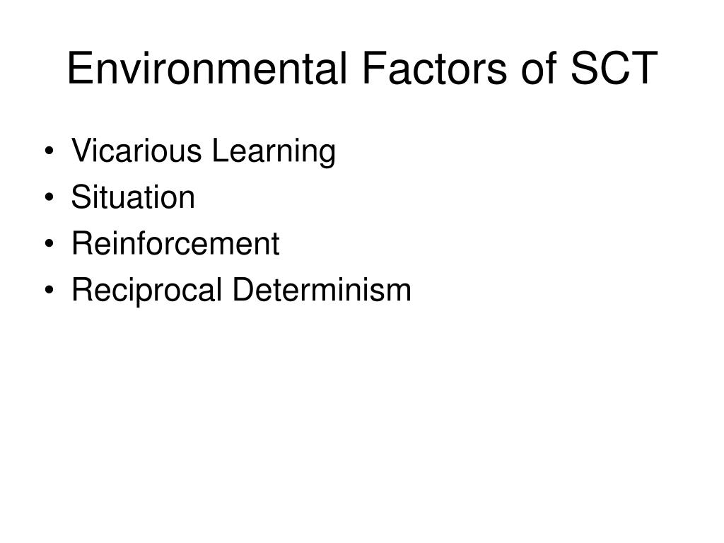 Environmental Factors of SCT