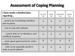 assessment of coping planning