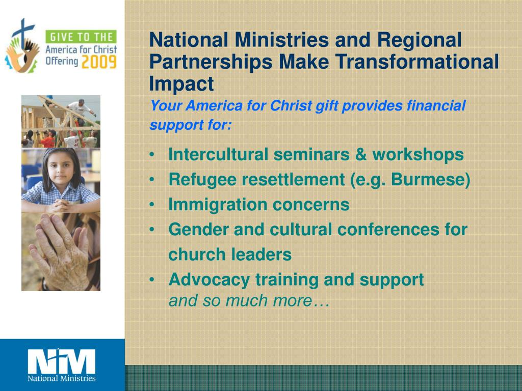 National Ministries and Regional Partnerships Make Transformational Impact