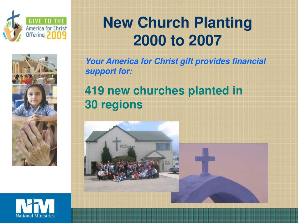 New Church Planting 2000 to 2007