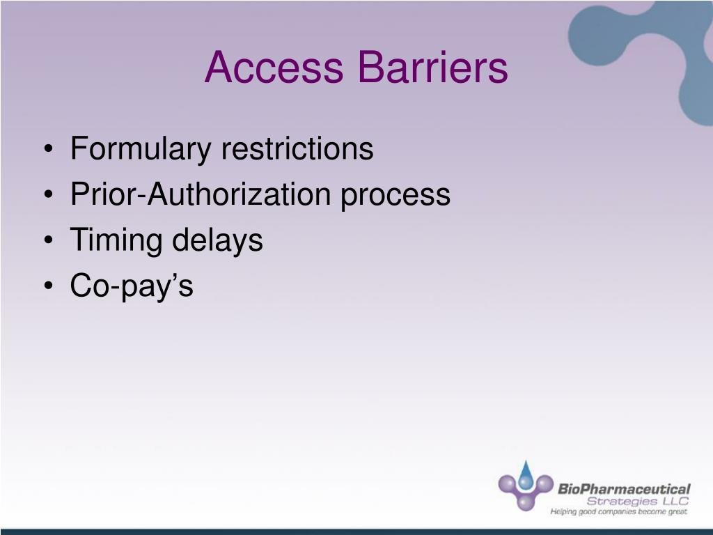 Access Barriers