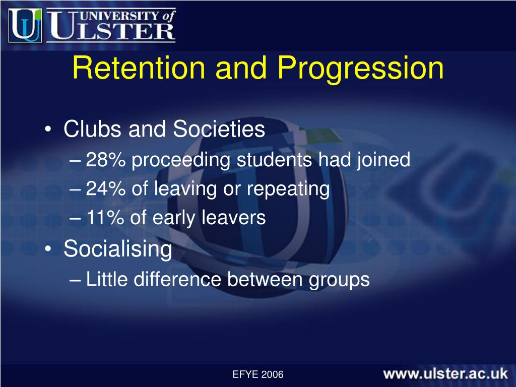 Retention and Progression