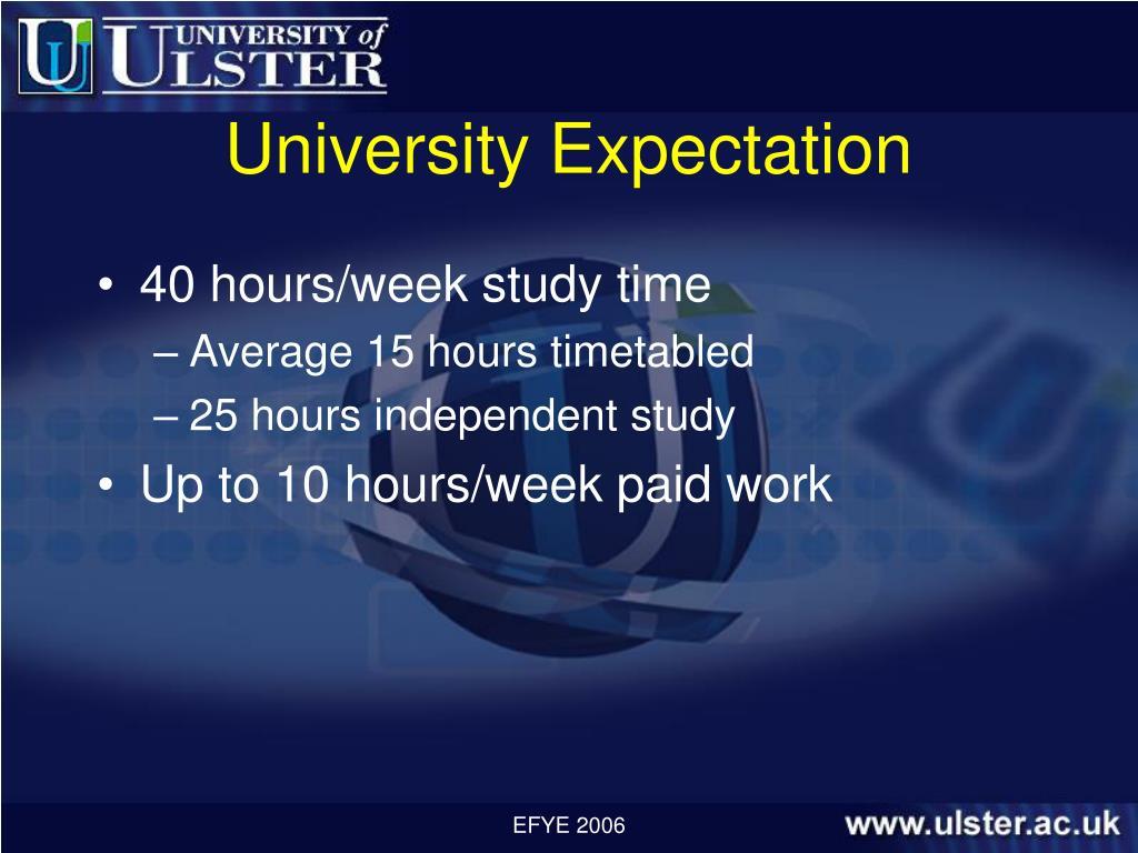University Expectation