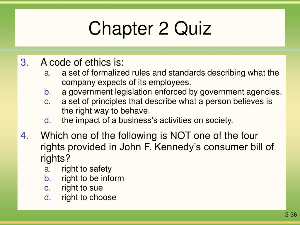 chapter two quiz