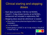 clinical starting and stopping doses