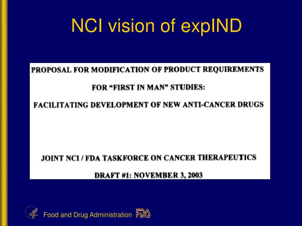 NCI vision of expIND