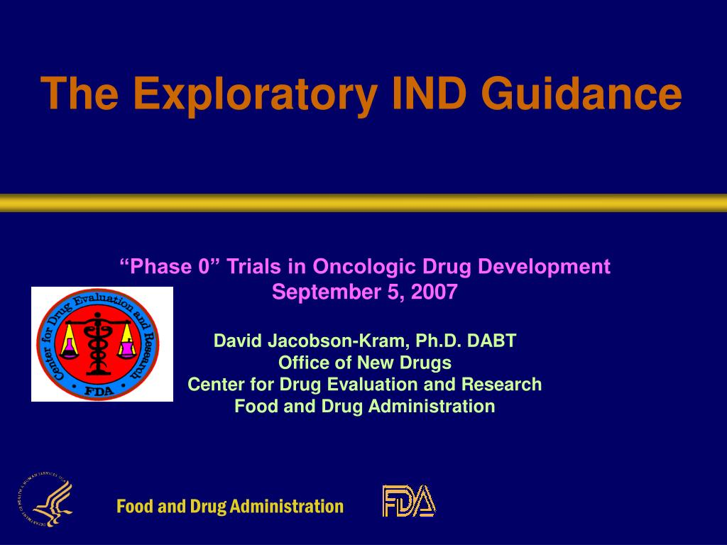 the exploratory ind guidance