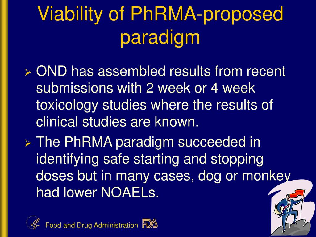 Viability of PhRMA-proposed paradigm