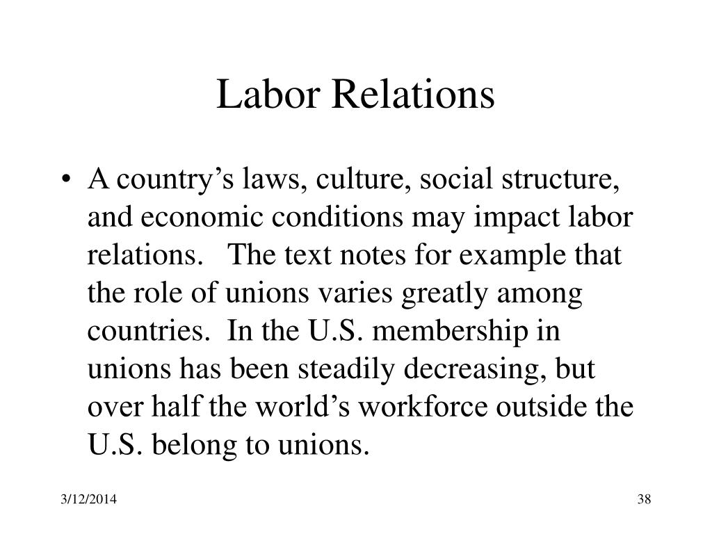 industrial relations 2 essay Industrial relation is a multidisciplinary field that studies the employment relationship industrial relations is college admission essays your.