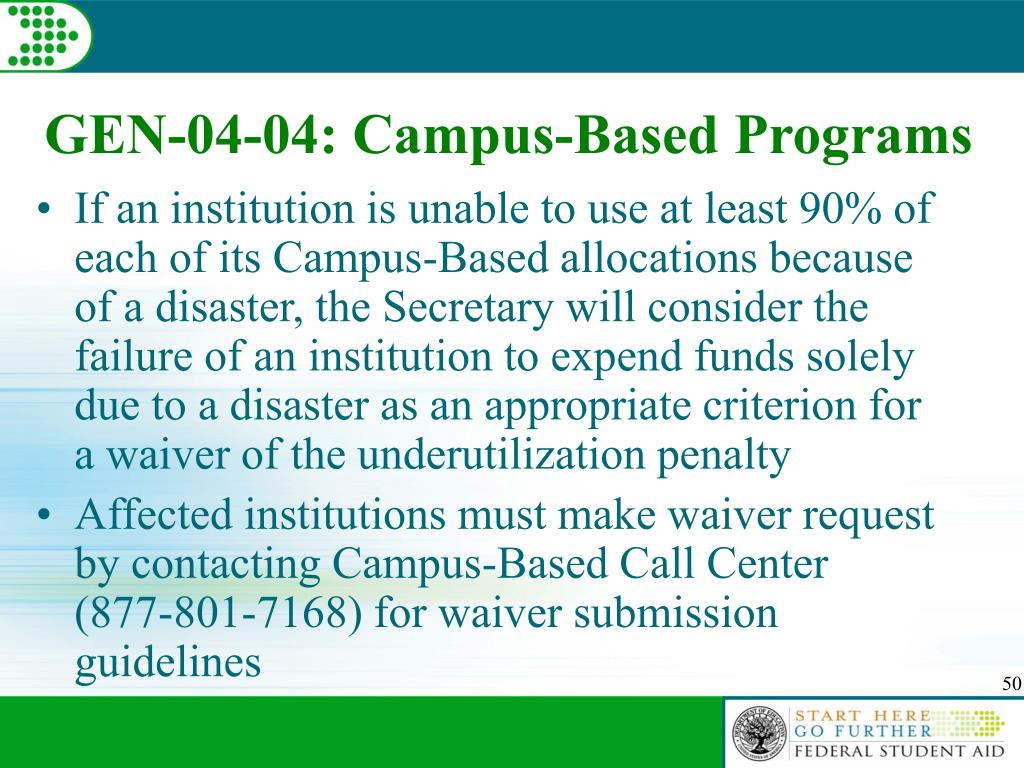 GEN-04-04: Campus-Based Programs