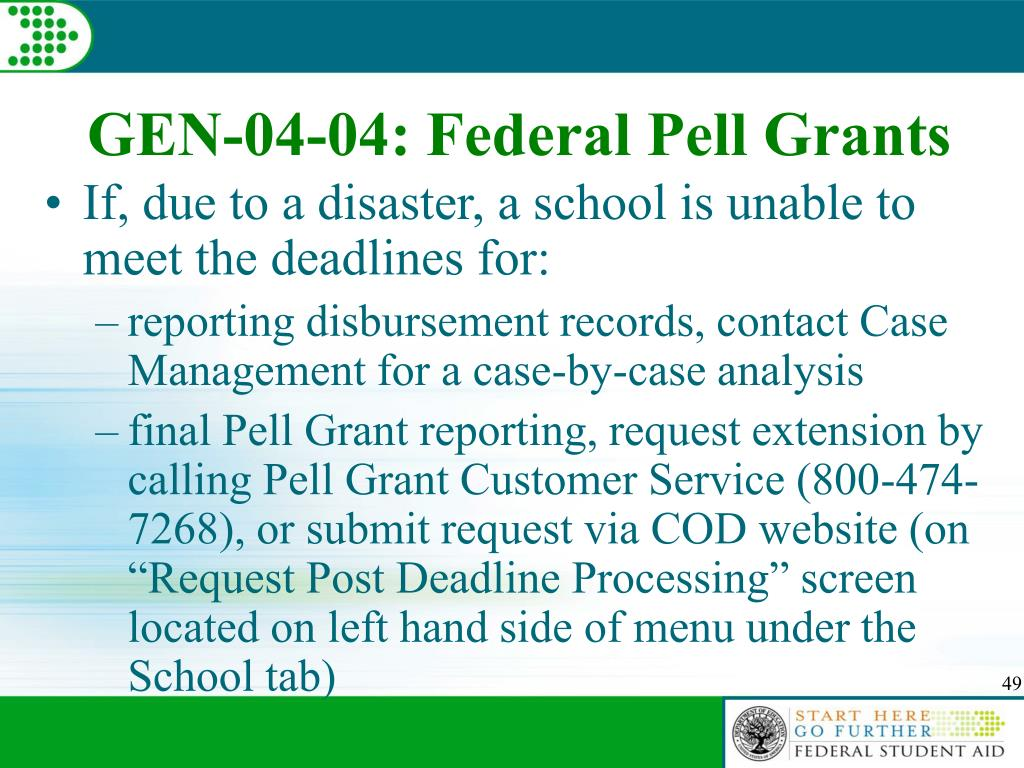 GEN-04-04: Federal Pell Grants