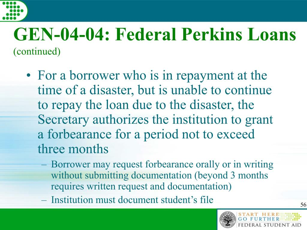 GEN-04-04: Federal Perkins Loans