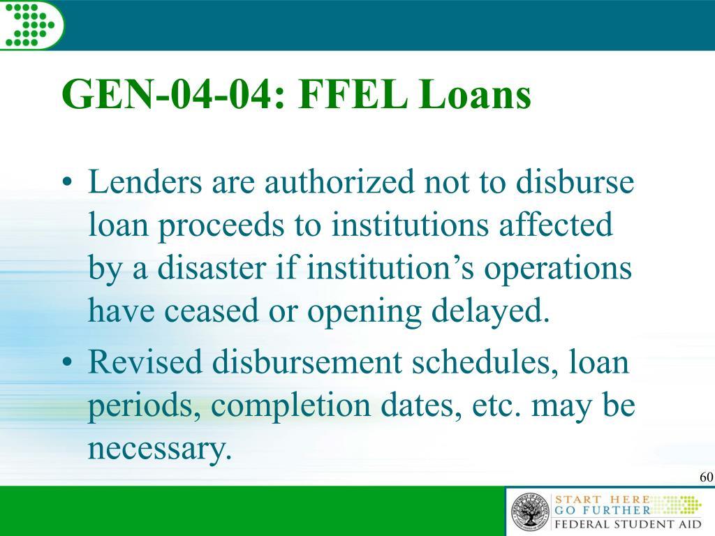 GEN-04-04: FFEL Loans