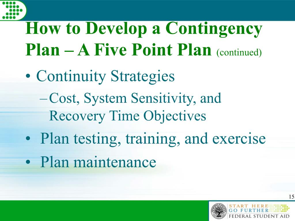 How to Develop a Contingency Plan – A Five Point Plan