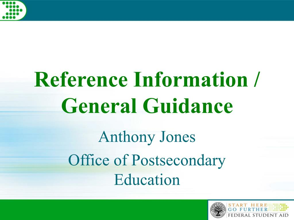 Reference Information /