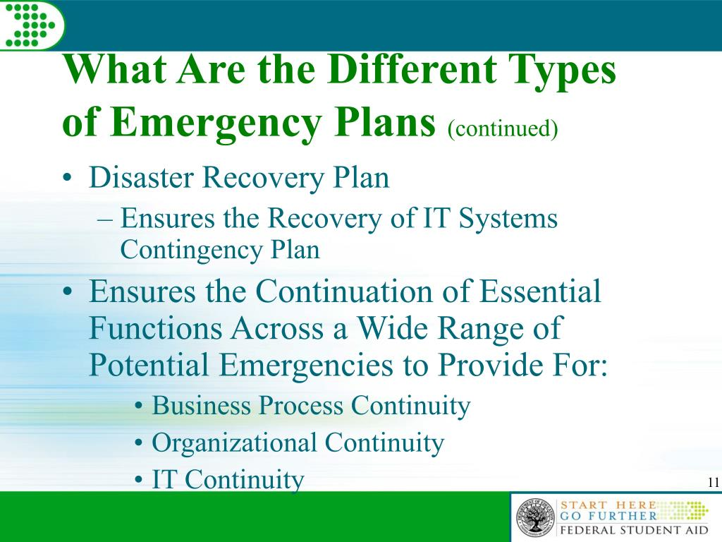 What Are the Different Types of Emergency Plans