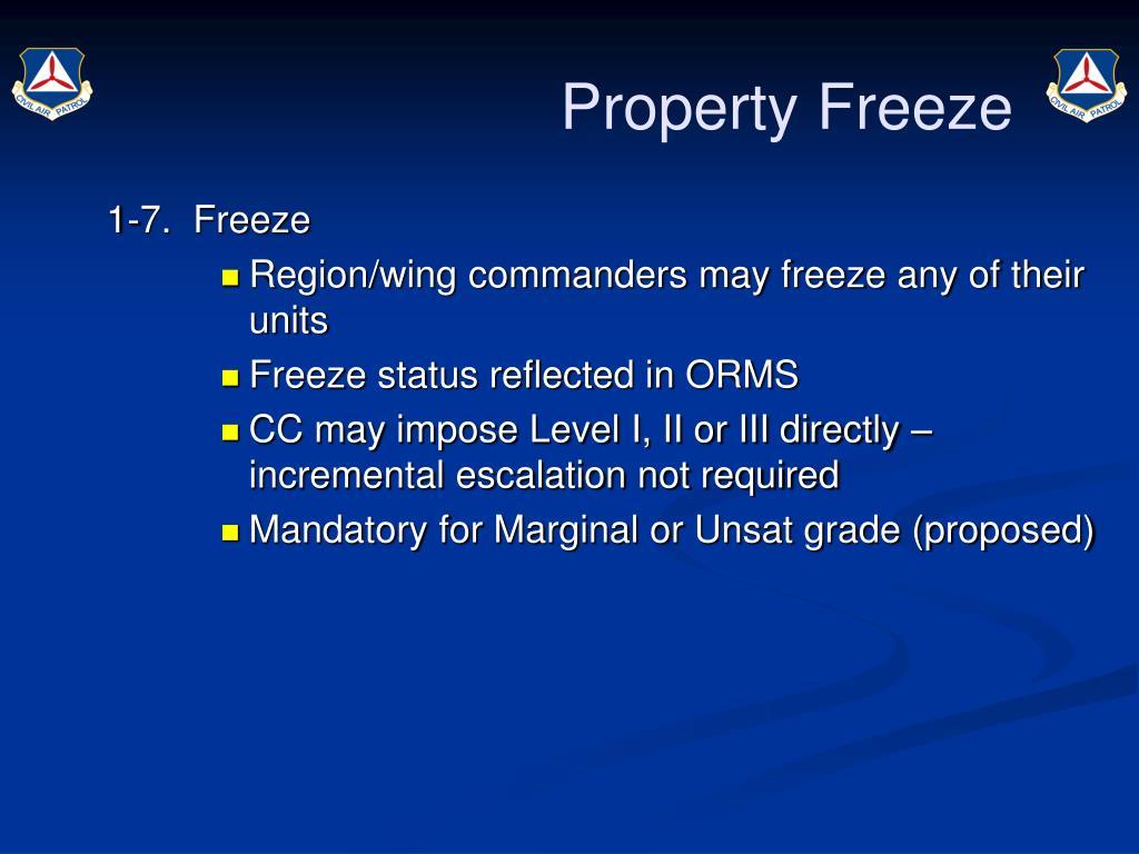 Property Freeze