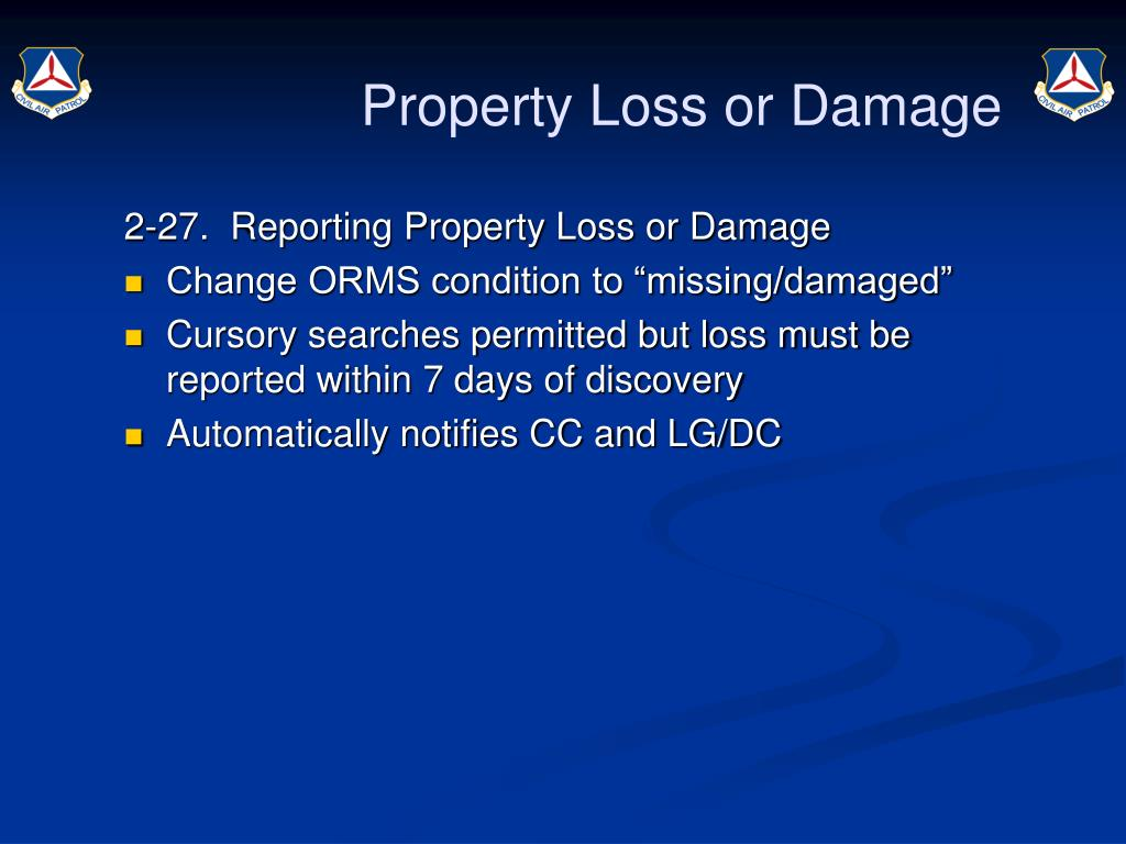 Property Loss or Damage