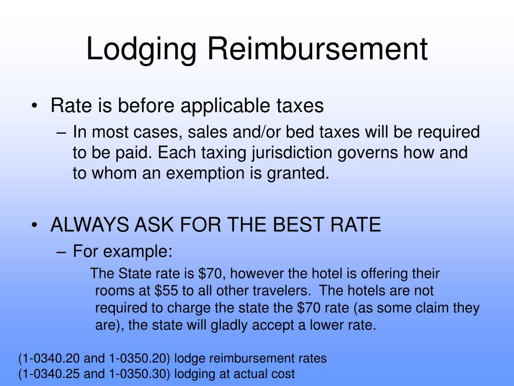 Lodging Reimbursement