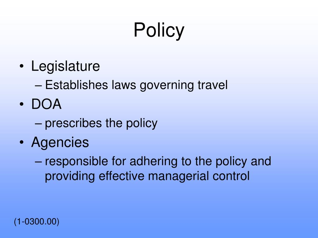Policy