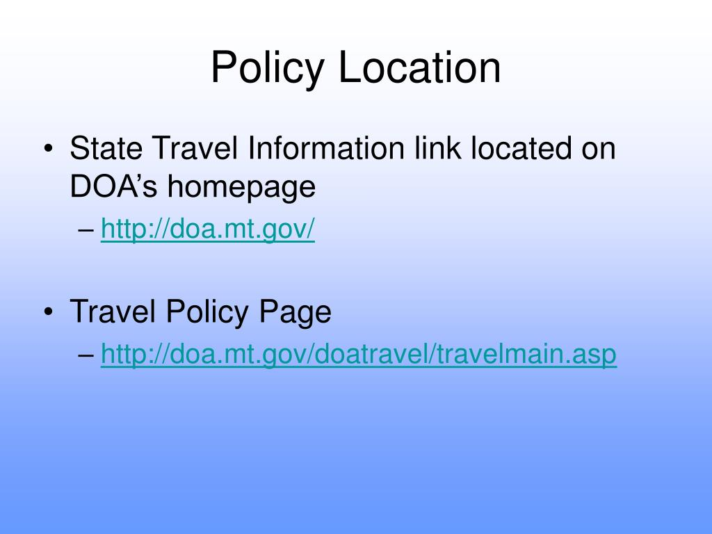 Policy Location