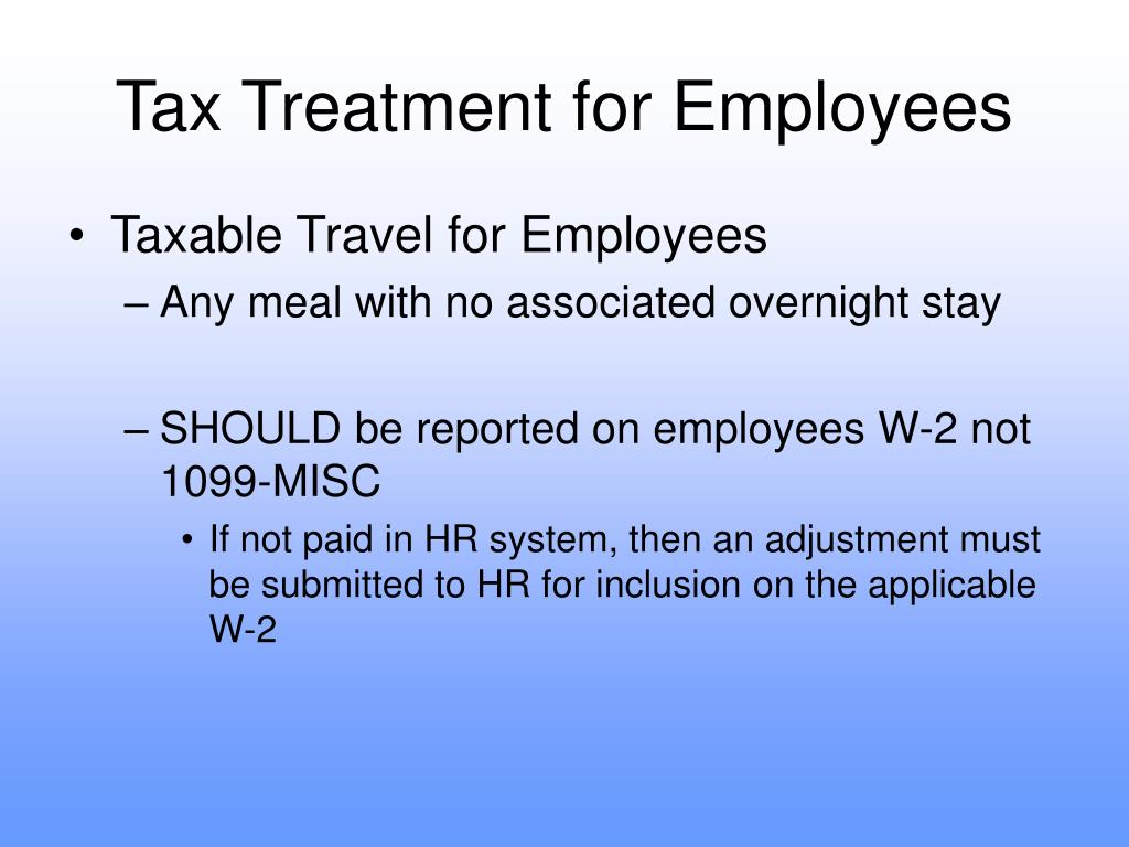 Tax Treatment for Employees