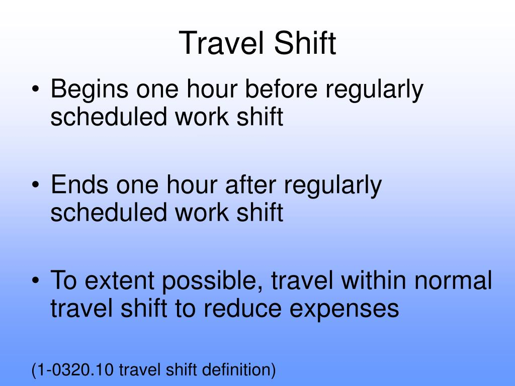Travel Shift