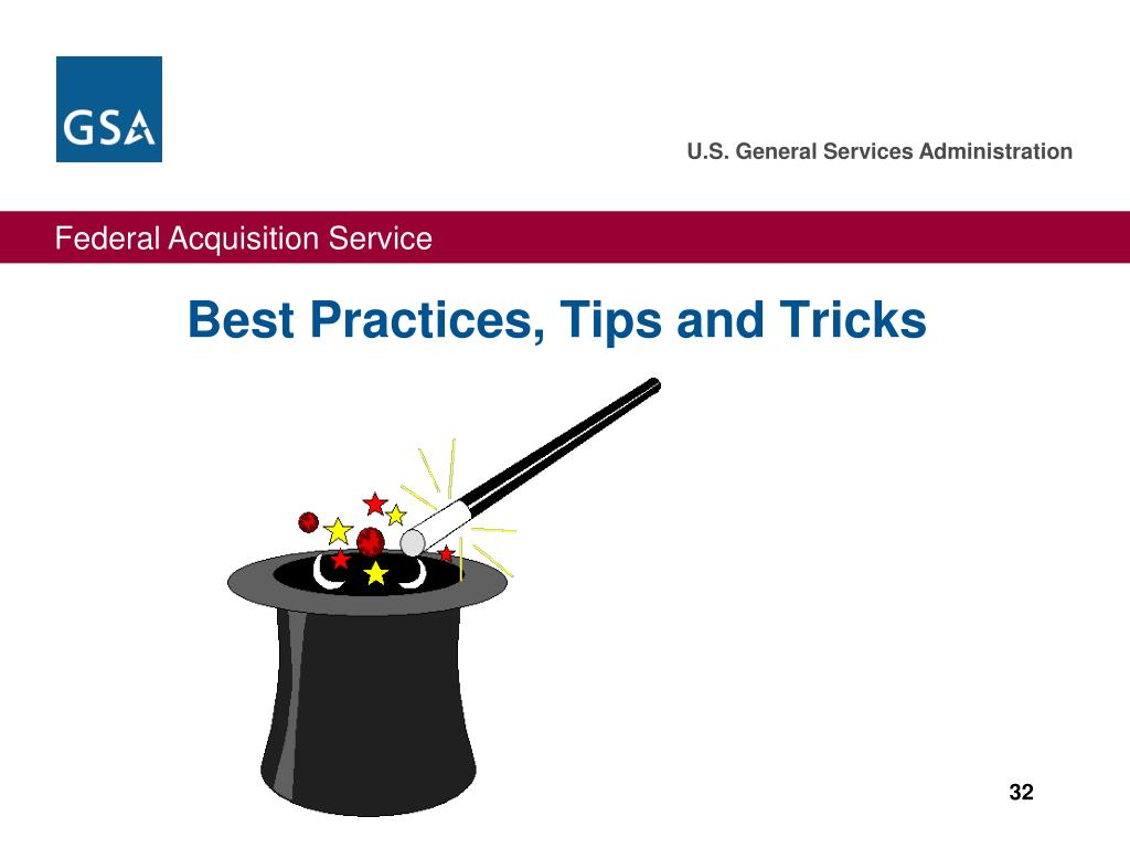 Best Practices, Tips and Tricks