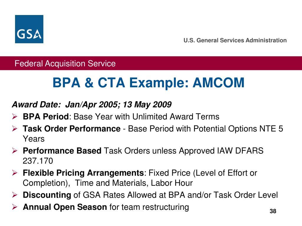 BPA & CTA Example: AMCOM