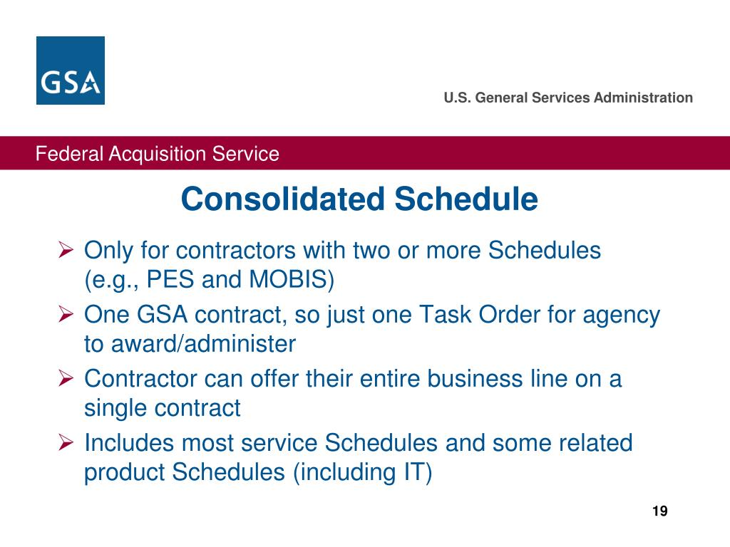 Consolidated Schedule