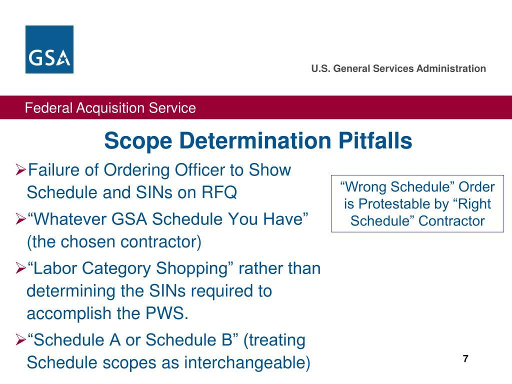 Scope Determination Pitfalls