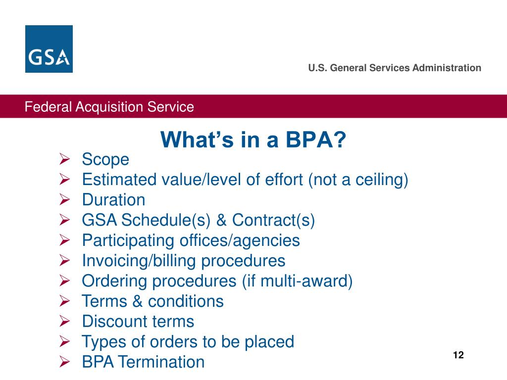 What's in a BPA?