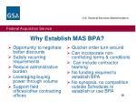 why establish mas bpa