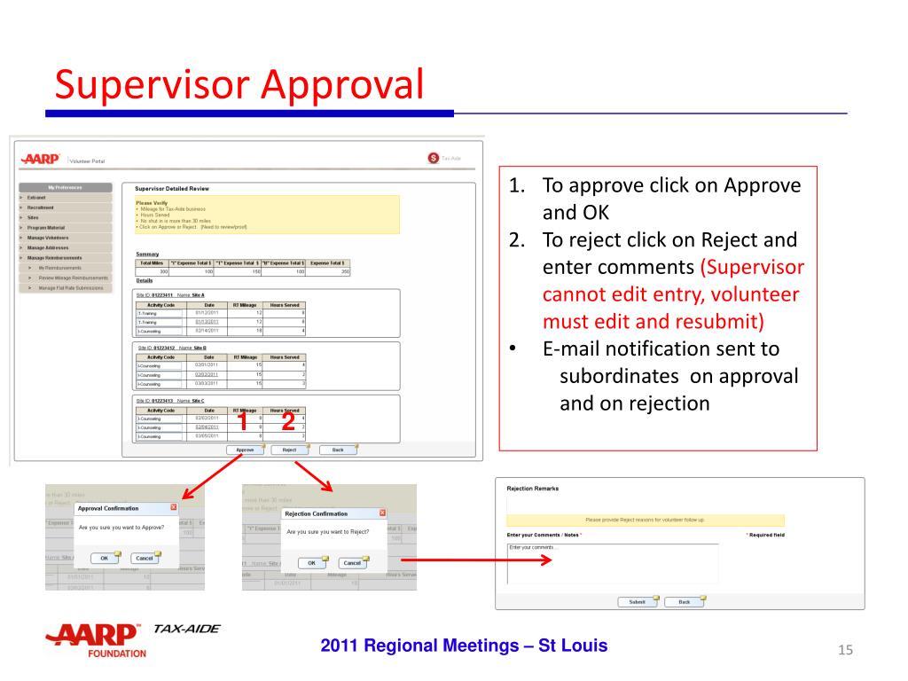 Supervisor Approval