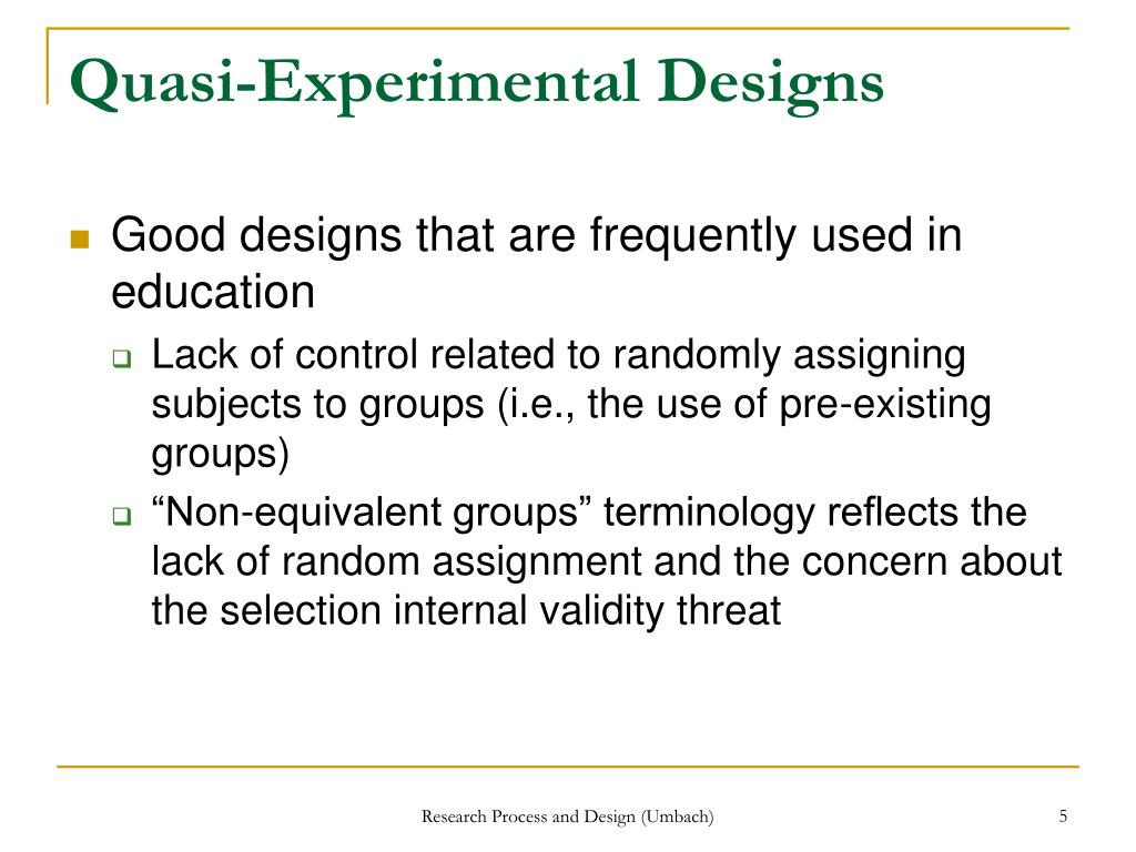 PPT - Experimental Research Designs, Part 2 PowerPoint ...