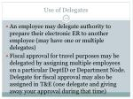 use of delegates