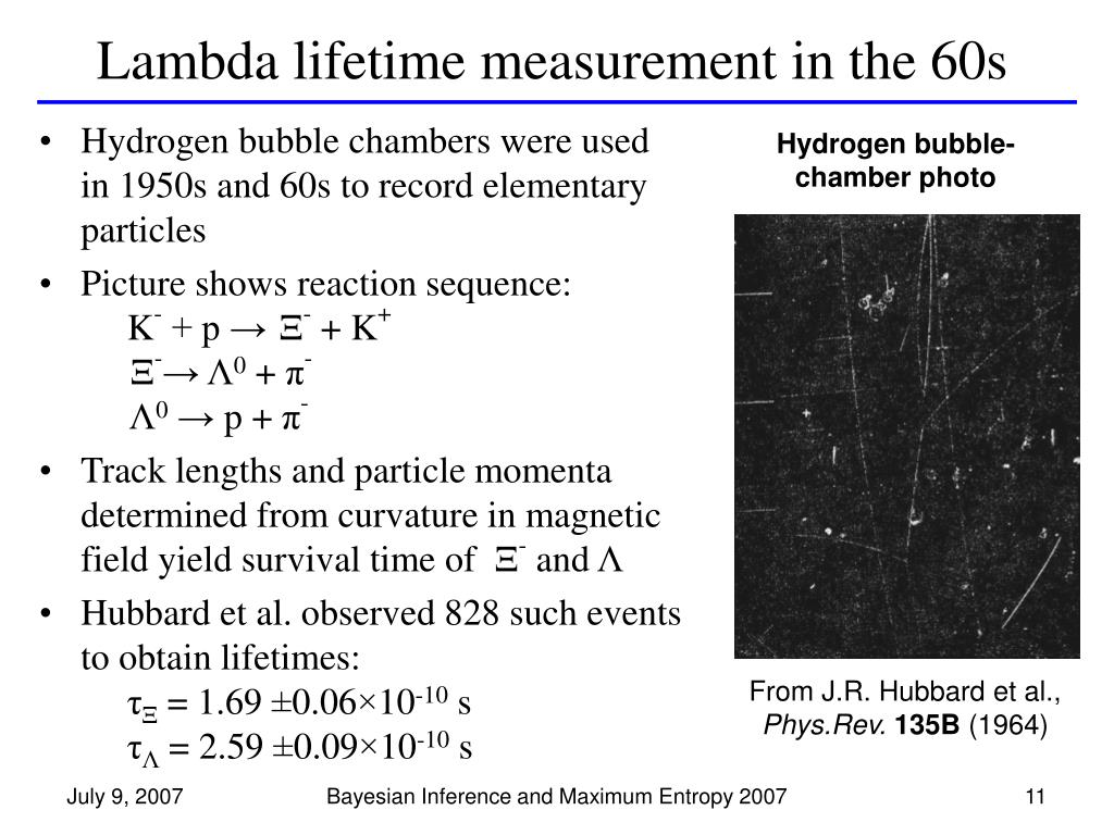 Lambda lifetime measurement in the 60s