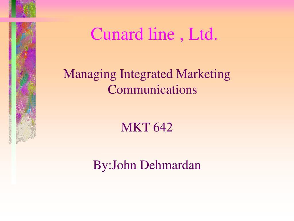 Cunard line , Ltd.