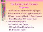 the industry and cunard s segments