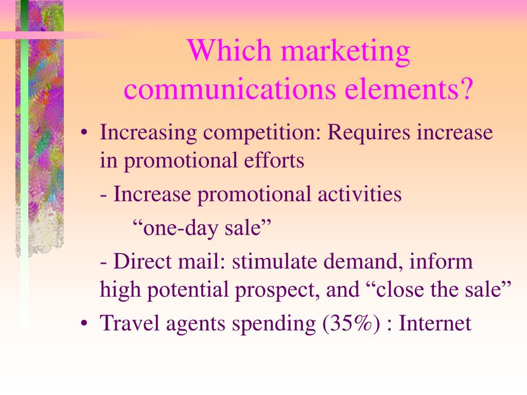Which marketing communications elements?