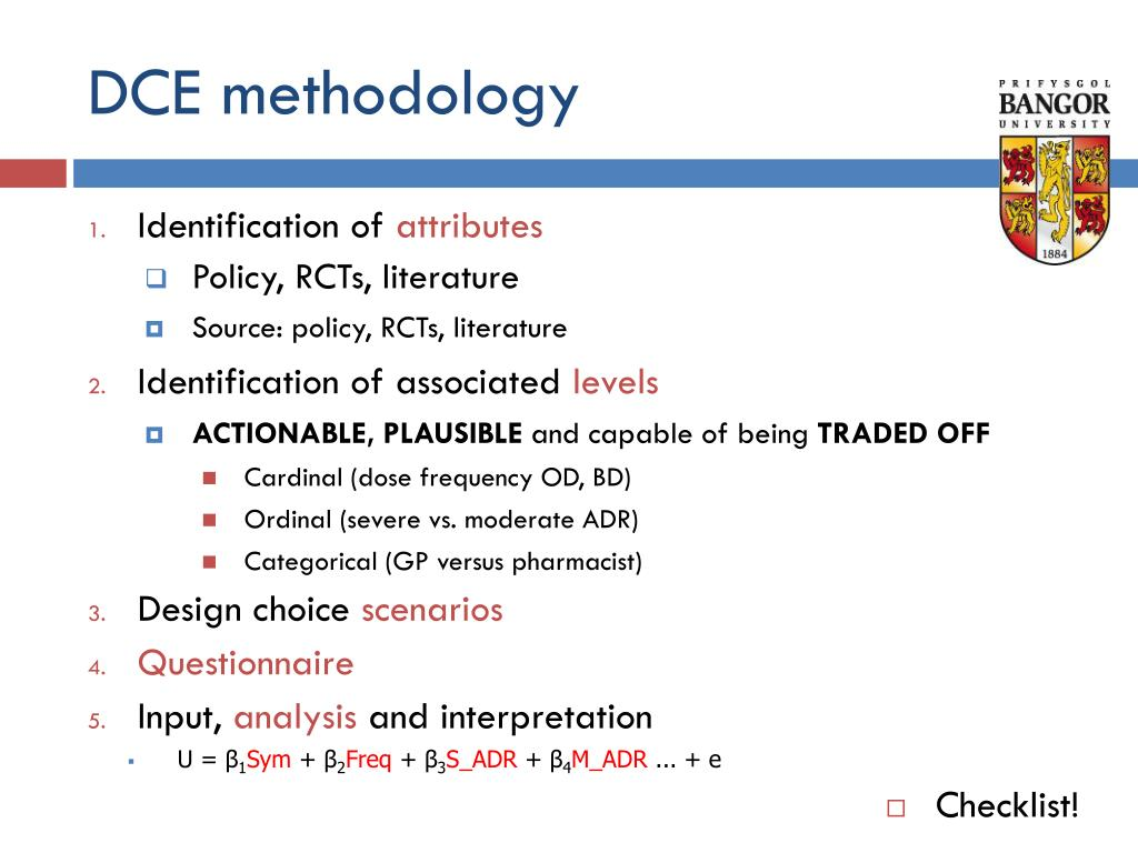 DCE methodology