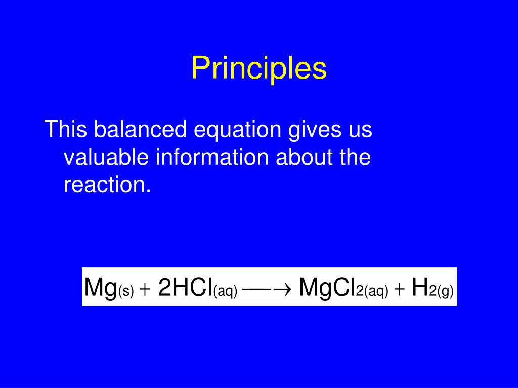 This balanced equation gives us valuable information about the reaction.